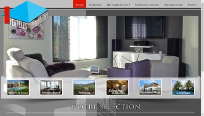 Capture d'écran du site de Agence Venelles Immobilier