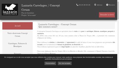 Site internet de Lazzarin Carrelages