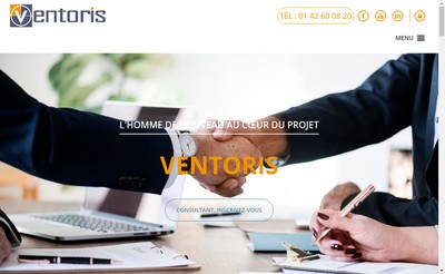Site internet de Ventoris Consulting