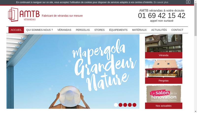 Capture d'écran du site de Amtb Miroiterie