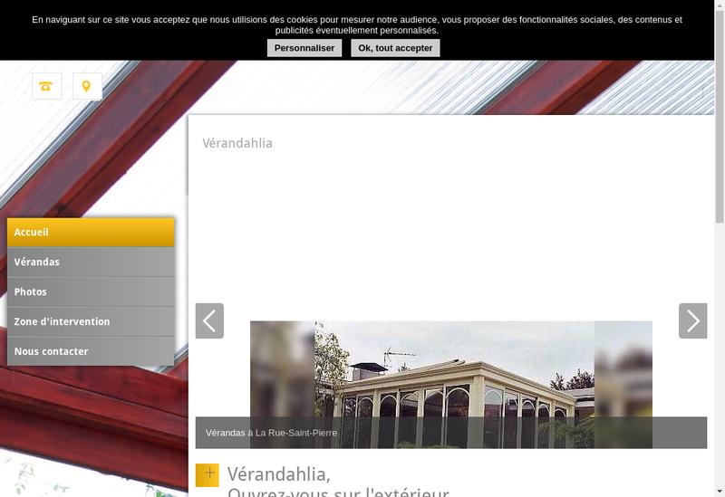 Capture d'écran du site de Verandahlia