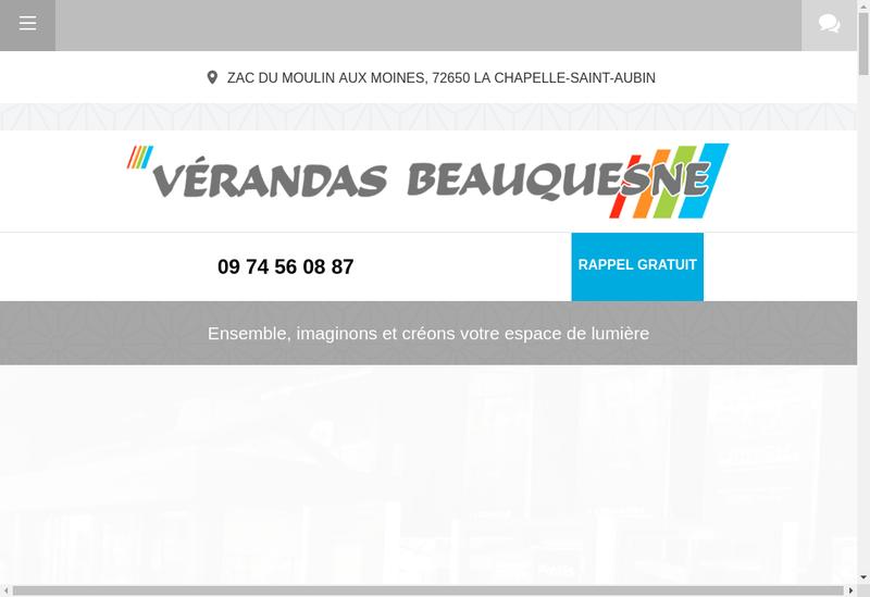 Capture d'écran du site de Societe Verandas Beauquesne