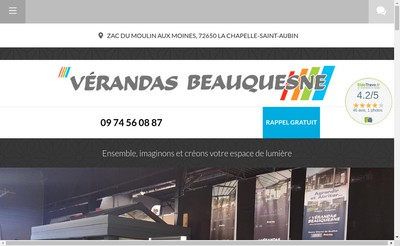 Site internet de Societe Verandas Beauquesne