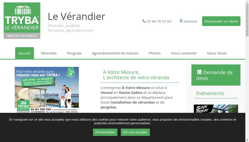 Capture d'écran du site de Le Verandier