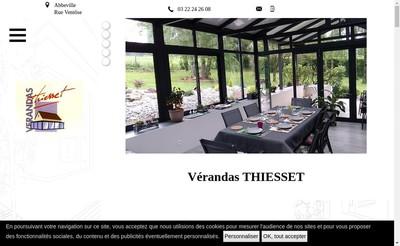 Site internet de Verandas Thiesset