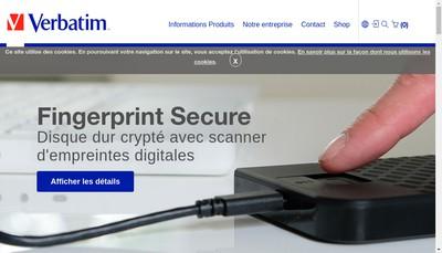 Site internet de Verbatim France