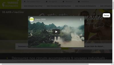 Site internet de Verdie Agence