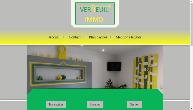 Site internet de Verneuil Immo