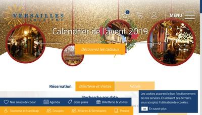 Site internet de Office de Tourisme de Versailles