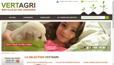 Site internet de Vert Agri