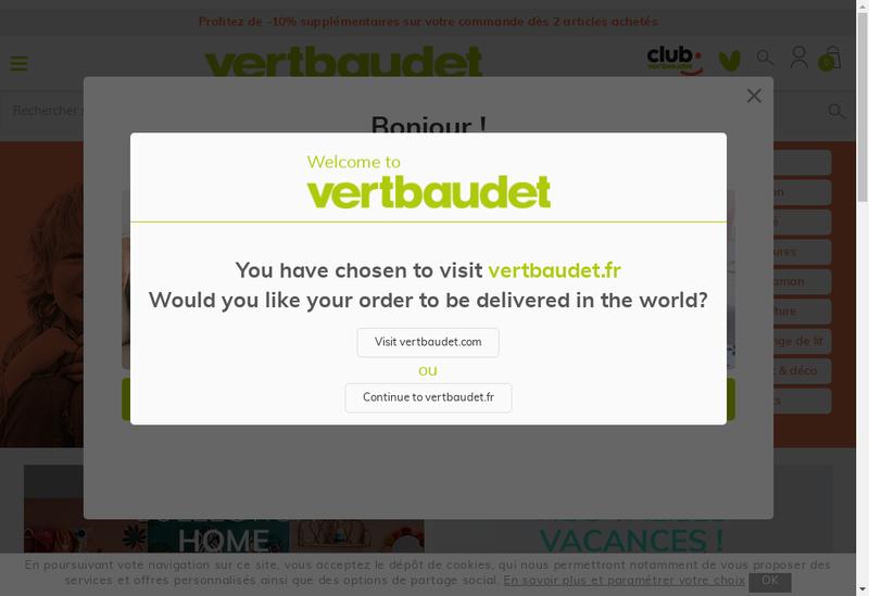 Capture d'écran du site de Cyrillus - Vertbaudet Group