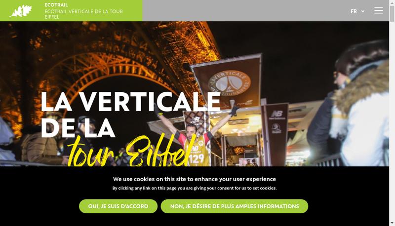 Capture d'écran du site de Eco - Trail Organisation