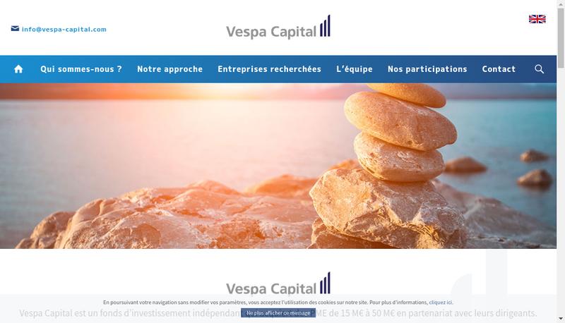 Capture d'écran du site de Vespa Capital France