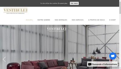 Site internet de Vestibule Paris