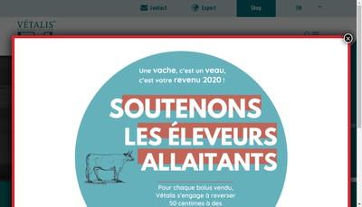 Site internet de Vetalis