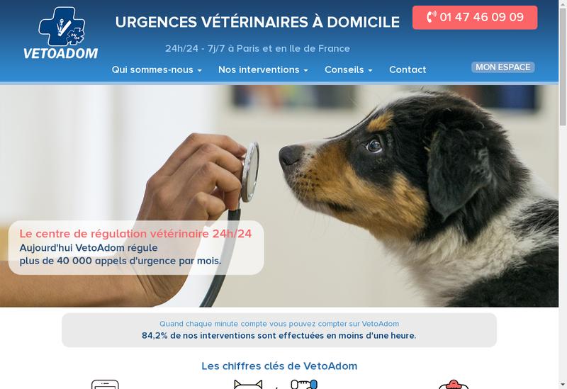 Capture d'écran du site de SELARL Vetoadom
