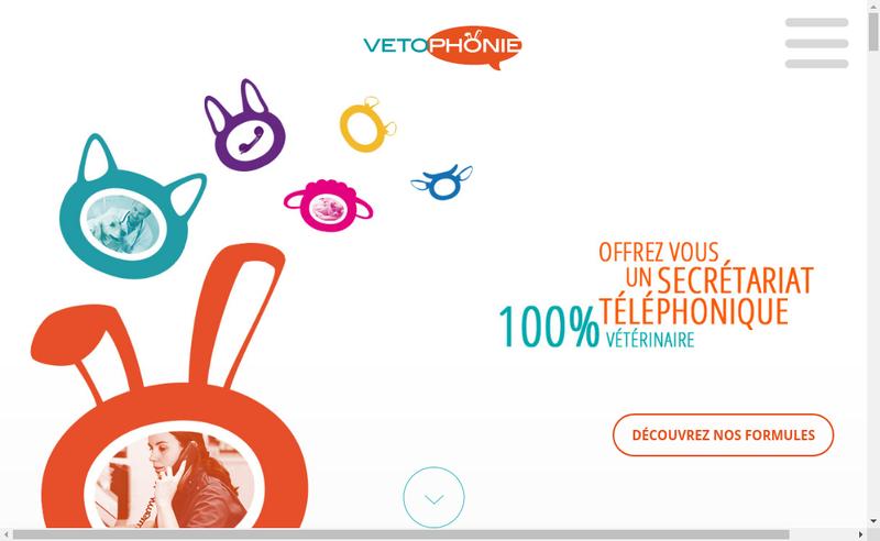 Capture d'écran du site de Vetophonie