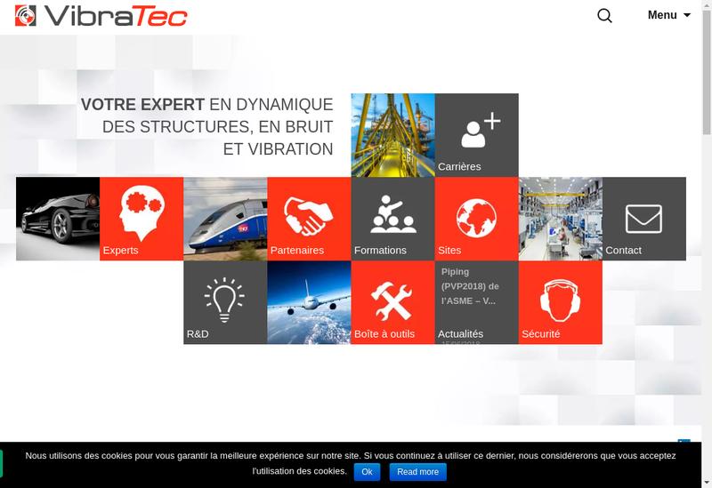 Capture d'écran du site de Vibrateam