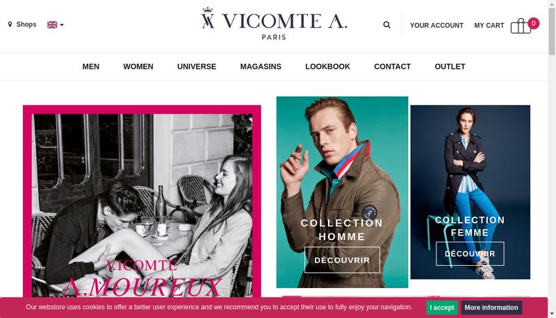 Capture d'écran du site de Vicomte Arthur