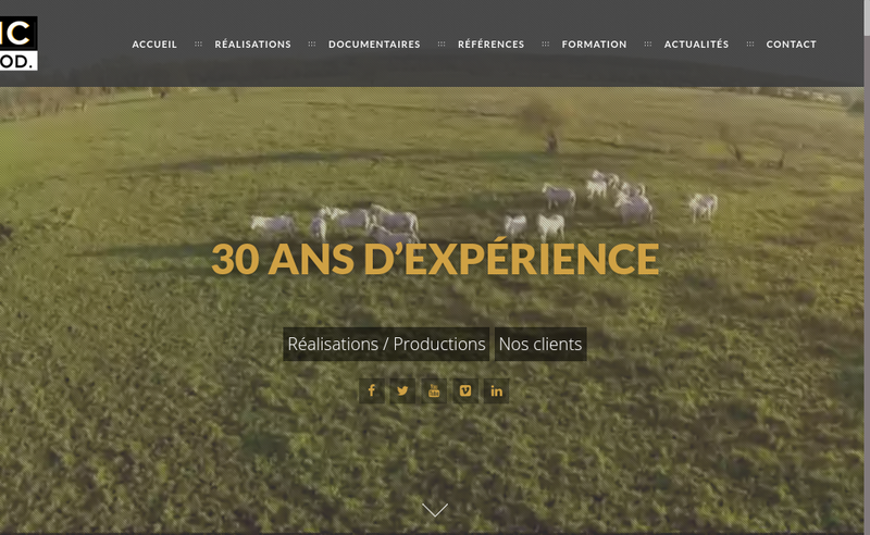 Site internet de VIC Production