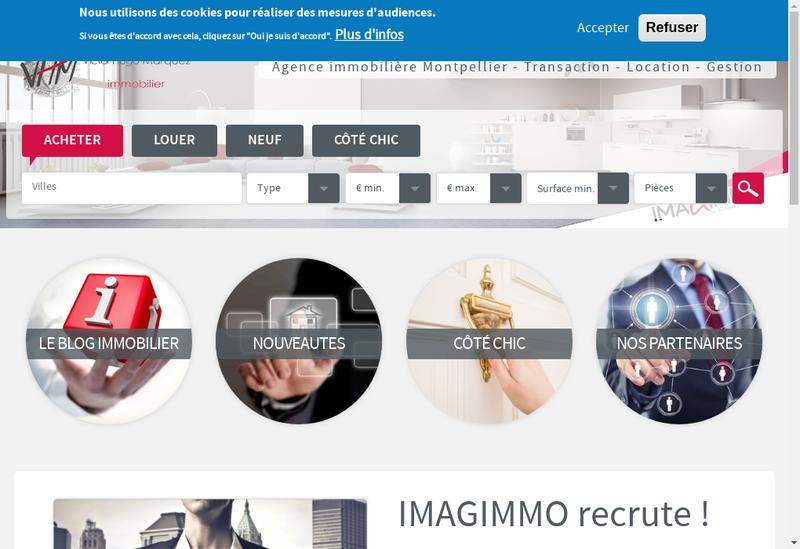Capture d'écran du site de Victor Hugo Marquez Immobilier