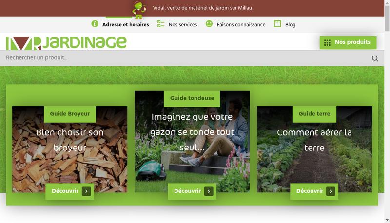 Capture d'écran du site de Vidal Motoculture