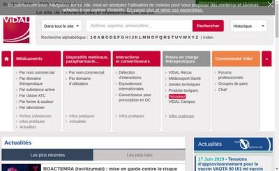 Site internet de Vidal France