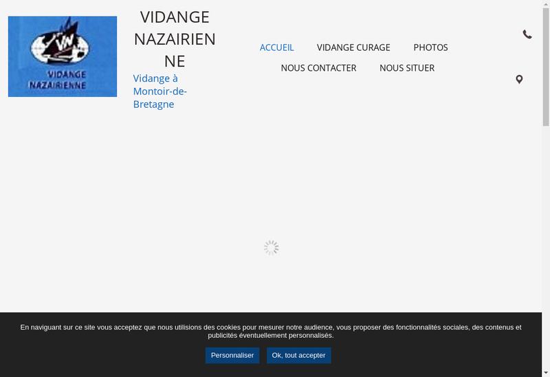 Capture d'écran du site de SARL Vidange Nazairienne