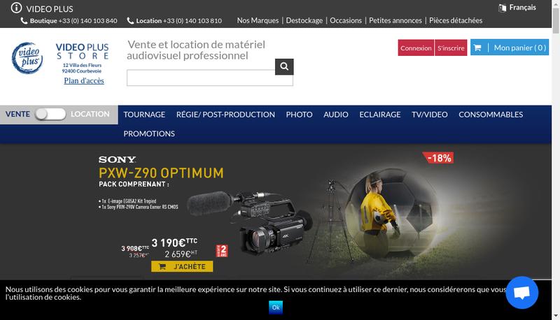 Capture d'écran du site de Video Plus