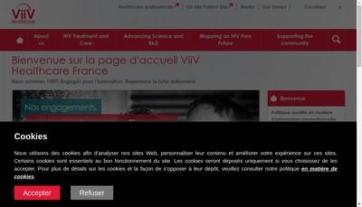 Site internet de Viiv Healthcare SAS