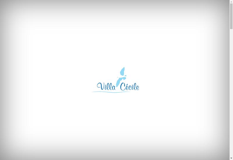 Capture d'écran du site de Villa Cecile