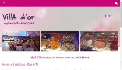 Capture d'écran du site de Villa d'Or