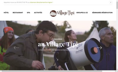 Site internet de Village Tipi