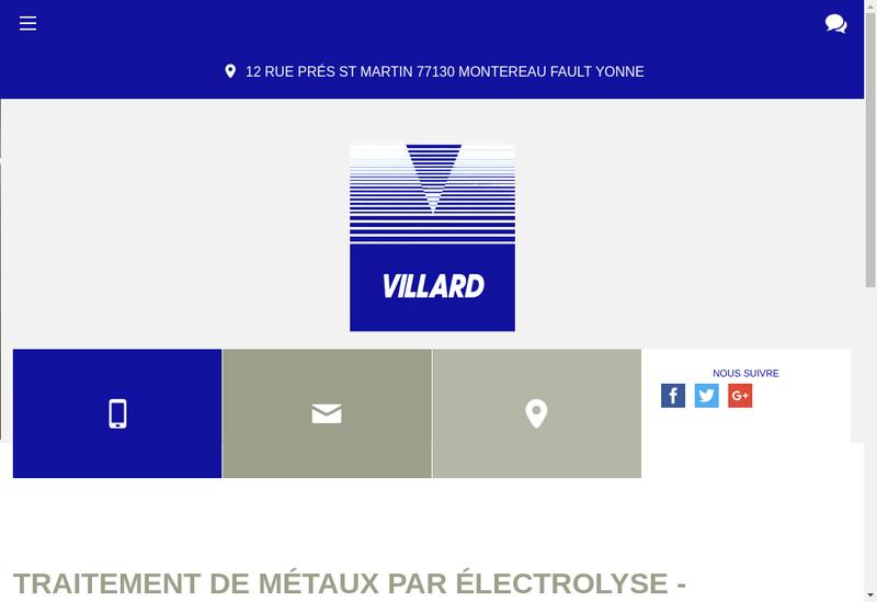 Capture d'écran du site de Villard SARL
