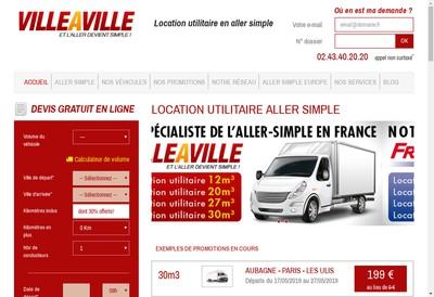 Site internet de Villeaville Com Vehicules Utilitaires