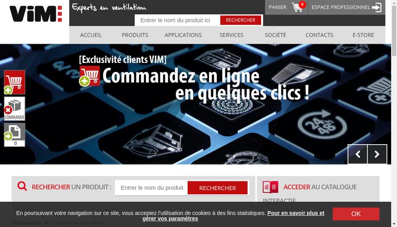 Capture d'écran du site de Vim