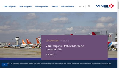 Site internet de Vinci Airports