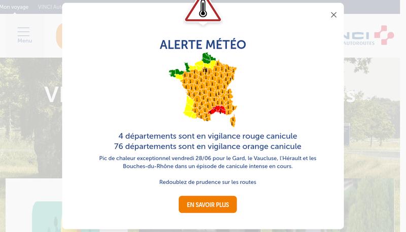 Capture d'écran du site de Autoroutes du Sud de la France