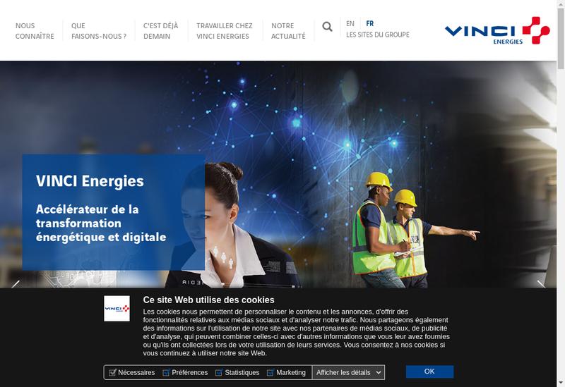 Capture d'écran du site de Cegelec SAS