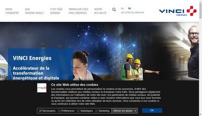 Site internet de Vinci Energies France Facilities Idf Tertiaire