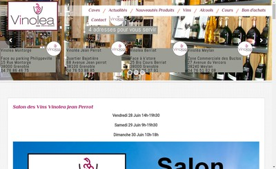 Site internet de Vinolea