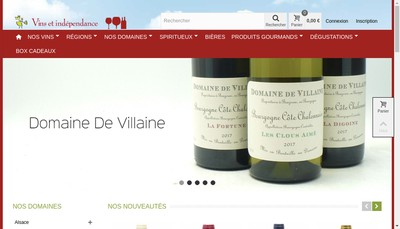 Site internet de Vins et Independance