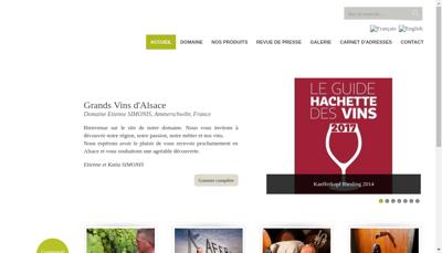 Capture d'écran du site de SARL Etienne Simonis