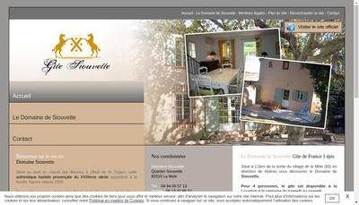 Site internet de Siouvette Diffusion