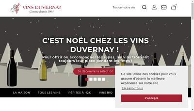 Site internet de Vins Duvernay