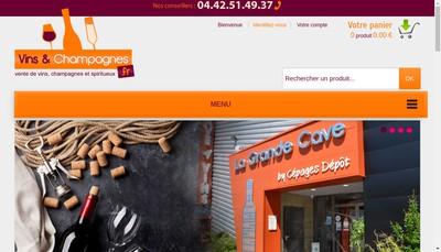 Site internet de Cepages Depot