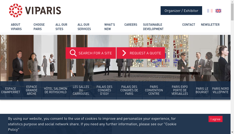 Capture d'écran du site de Societe Explo Parc Expo Paris Nord Bourget