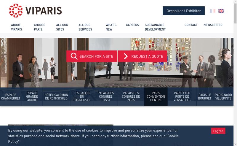 Capture d'écran du site de Societe Exploit Parc Expos Ville Paris