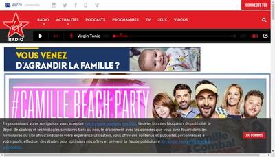 Site internet de Virgin Radio
