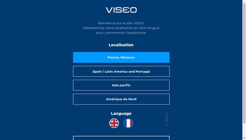 Capture d'écran du site de Viseo Business Technologies